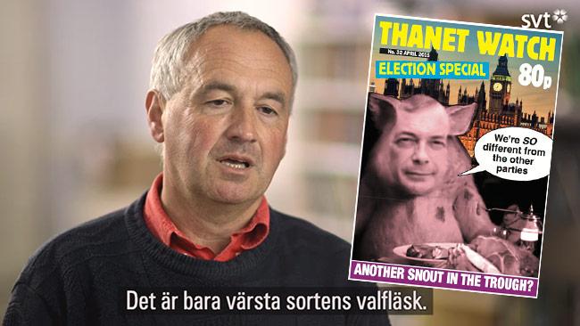 """Norman Thomas, """"neutral"""" redaktör i SVT Agenda. Foto: Svt.se / thanetwatch.wordpress.com"""