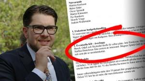 Dokumentet avslöjar Sverigedemokraternas planer på att rekrytera KD-ledamöter. Foto: Roger Sahlström