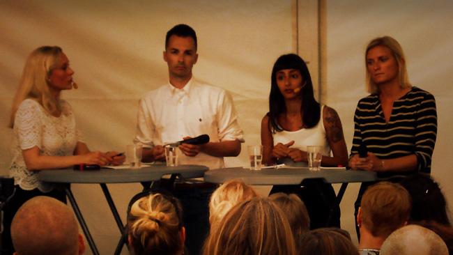 Panelen med bland annat Adam Cwejman och Seher Yilmaz. Foto: Jakob Bergman / Nyheter Idag