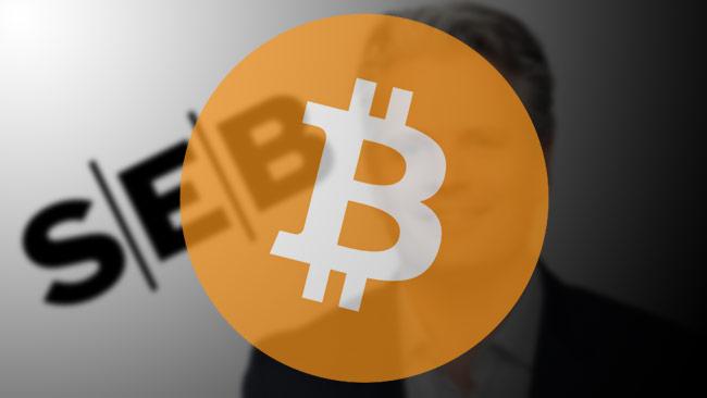 SEBs chefsstrateg kan bli av med jobbet på grund av Bitcoin. Bilden är ett montage. Foto: Pressbild SEB