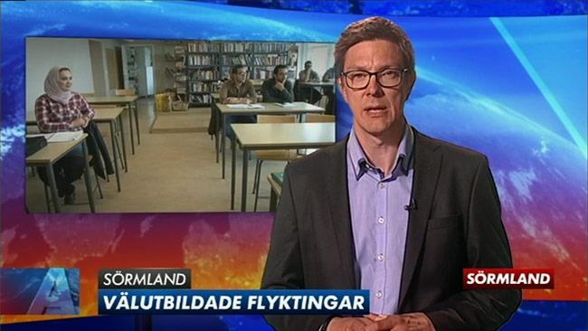 Fredrik Ahl i den riktiga sändningen. Foto: Faksimil svtplay.se