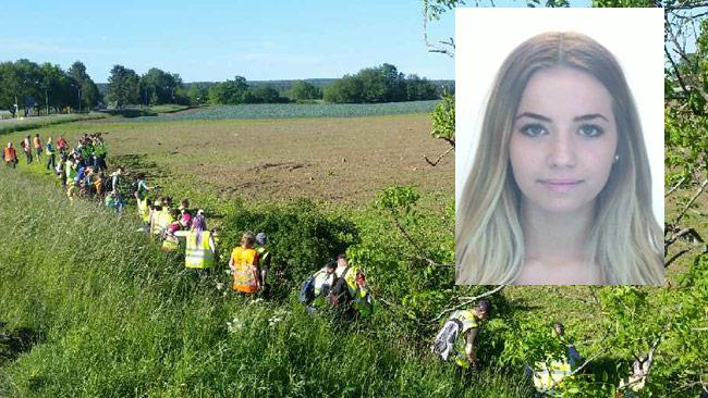 Här söker Missing People efter Lisa Holm. Bilden är ett montage. Foto: Kenneth Söderlund