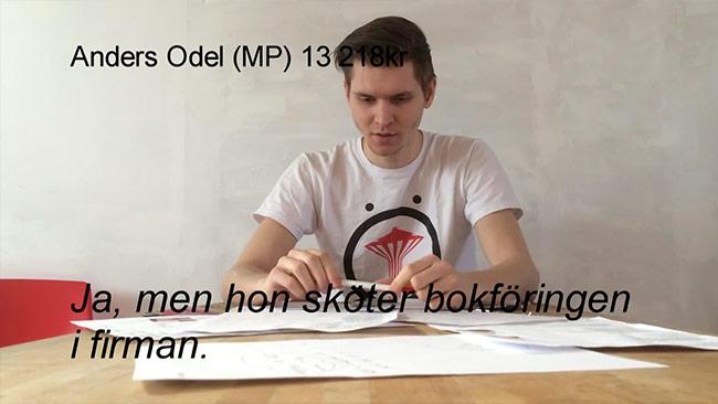 Markus Allard från Örebropartiet ringer och konfronterar politiker. Foto: Faksimil Youtube