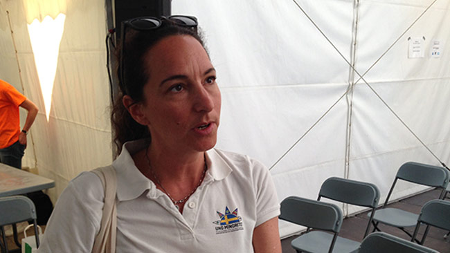 Petra Kahn Nord berättade att judar känner sig utanför den antirasistiska gemenskapen. Foto: Chang Frick / Nyheter Idag