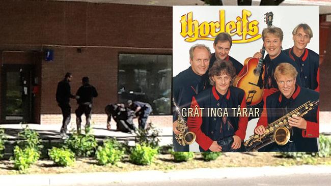 De misstänkta rånarna torteras nu med musik från Thorleifs enligt Aftonbladet. Bilden är ett montage. Foto: Privat
