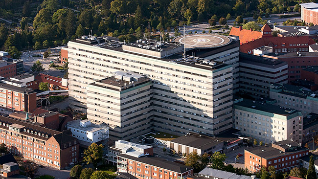 Skånes universitetssjukhus i Lund. Foto: Wikimedia Commons