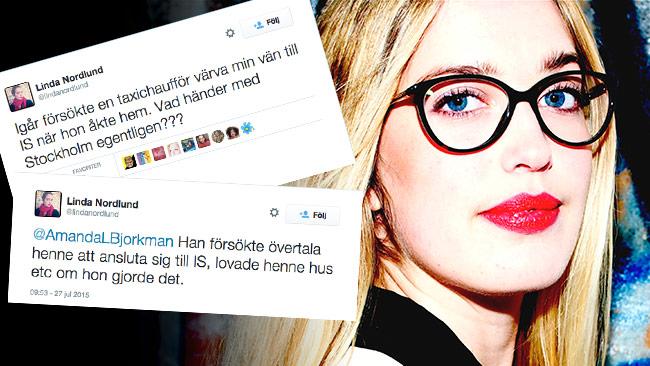 Man kan fråga sig om inte Linda Nordlund klagar på sin egen politik. Foto: Pressbild / Twitter