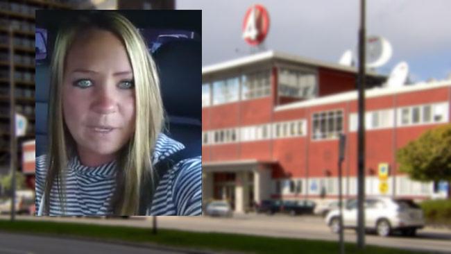 Louise Andersson Bodin gråter i en video på Facebook efter att TV4 funderar på att avbryta ett inplanerat program. Foto: Facebook / Wikimedia Commons
