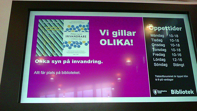 Vi gillar olika böcker i Vällingby. Foto: Einar Ehn