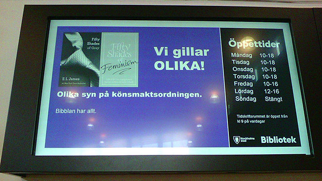 Olika syn på könsmaktsordningen. Foto: Einar Ehn