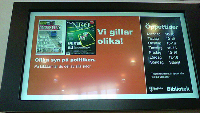 Olika syn på politiken. Foto: Einar Ehn