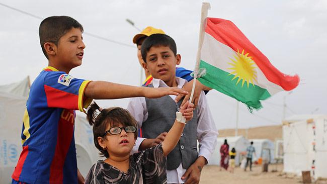 Kurdiska barn i ett flyktingläger i regi av UNHCR. Foto: Sherko Jahani / Nyheter Idag