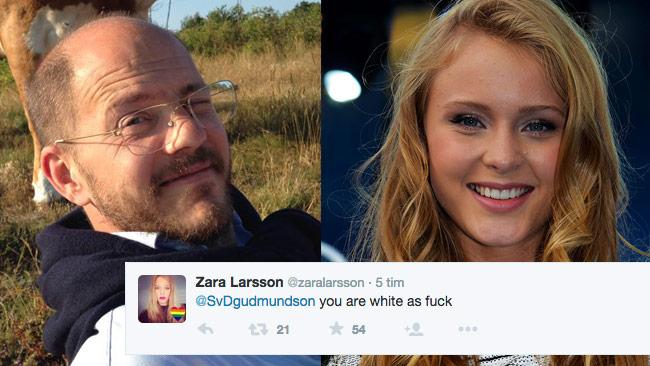 "Enligt artisten Zara Larsson är Per Gudmundson ""white as fuck"". Foto: Privat / Daniel Åhs Karlsson - Wikimedia Commons"