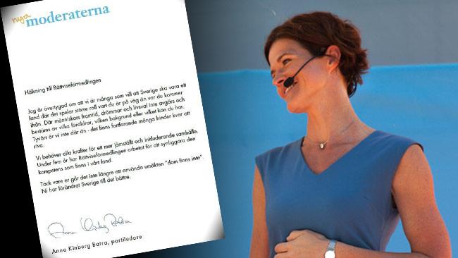 Även moderaternas partiledare Kindberg Batra förefaller vara positiv till identitetspolitik. Foto: Facebook / Chang Frick, Nyheter Idag