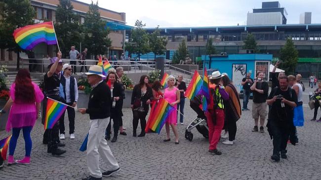 Deltagare i Järva Pride. Foto: Privat
