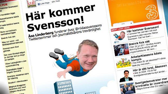 Åsa Lindeborg går till rasande attack mot Niklas Svensson. Foto: Faksimil Aftonbladet.se