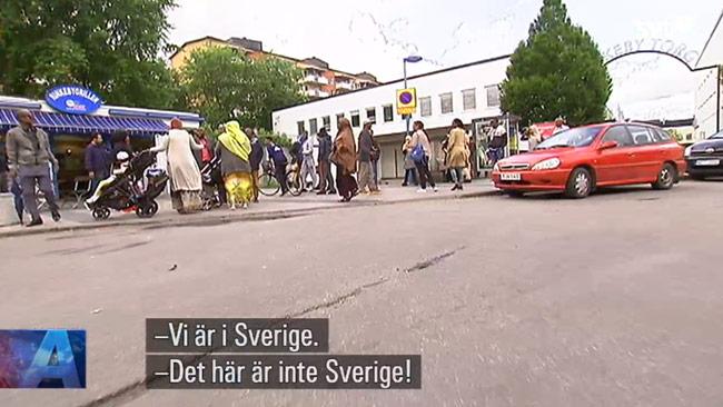 Bild ur inslaget som SVT Aktuellt sände på måndagskvällen. Foto: Faksimil svtplay.se