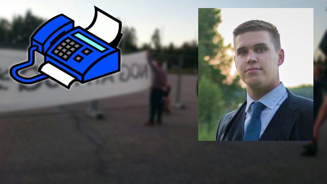 Fredrik Hagberg berättar om hur Nordisk Ungdom vill radikalisera samhället. Foto: Privat