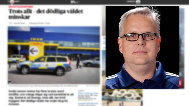 Den borgerliga debattören Fredrik Antonsson ger inte mycket för DN-journalistik. Foto: Faksimil DN.se / Privat