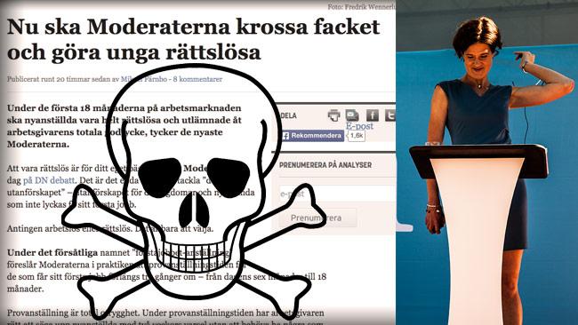 Dagens Arena går bananas över Moderaternas förslag – så vi utgår ifrån att M-förslaget är bra. Bilden är ett montage. Foto: Faksimil Dagens Arena / Nyheter Idag