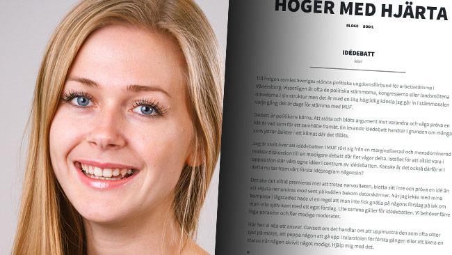 Bodil Sidén och hennes blogginlägg. Foto: Pressbild samt bodilsiden.se