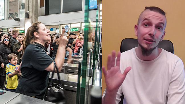 """Youtubekändisen """"En Arg Blatte Talar"""" kommenterar nu kaoset i tunnelbanan i en ny video"""
