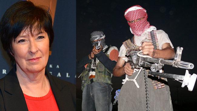 Nu blir telefonlinjen verklighet mot IS-krigare. Foto: Frankie Fouganthin / Wikimedia Commons
