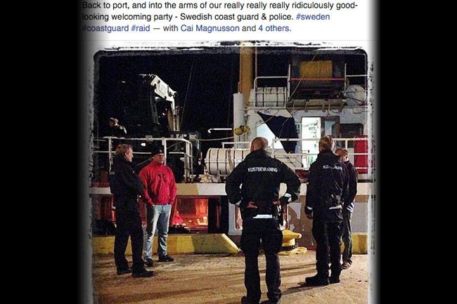 Expressen missade att Ocean X Team förhörts av både polis och kustbevakning i höstas. Foto: Faksimil Facebook