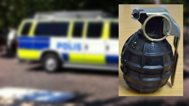 Såhär ser en M75 granat ut, alltså samma typ av granat som användes i attacken mot polisbussen.