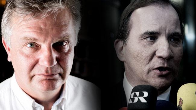 Johan Westerholm (t.v) kommenterar nu vad som krävs av Stefan Löfven (t.h). Foto: Mikael Willmarsgård samt Chang Frick / Nyheter Idag