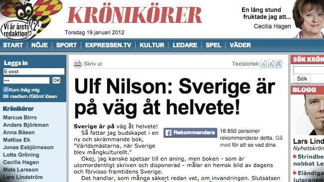 """Här varnar Expressen för att """"Julia Ceasar"""" kan bli mördad om hon inte kan vara anonym. Foto: Faksimil Expressen.se"""