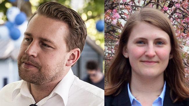 Mattias Karlsson (t.v) och Jessica Ohlsson (t.h). Foto: Nyheter Idag samt sdu.nu