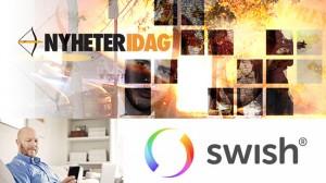 Nu kan du bidra till Nyheter Idag med Swish. Bilden är ett montage.