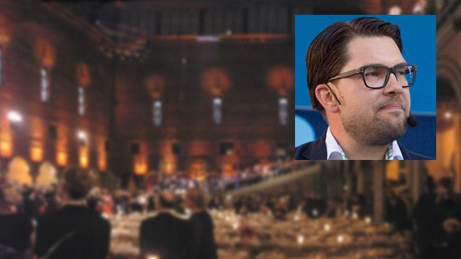 Alla människor är lika mycket värda. Därför får inte Jimmie Åkesson närvara på Nobelfesten. Foto: Wikimedia Commons / Roger Sahlström
