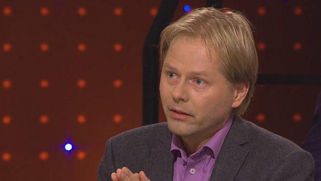 Anders Lindberg tycker att SD ska ta ansvar för att asylboenden brinner. Foto: Faksimil svtplay.se