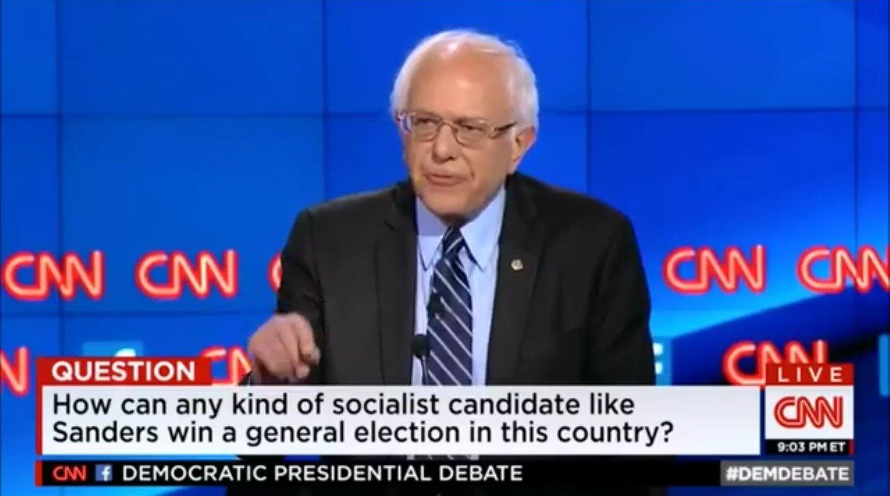 Bernie Sanders. Foto: CNN