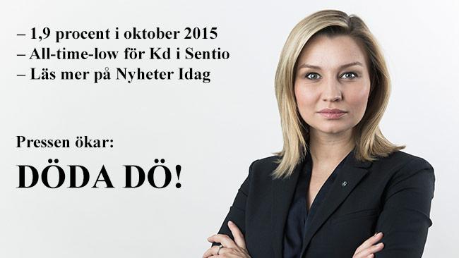 Pressen ökar på partiledaren Ebba Busch Thor. Foto: Pressbild kristdemokraterna.se