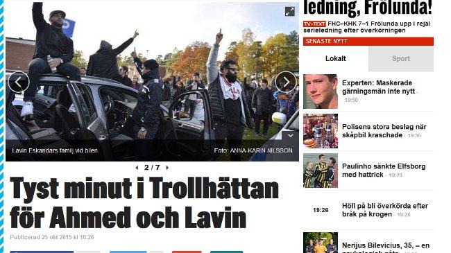 När tidningar publicerade bilder med vad som liknar ISIS-hälsningen var många frågande. Foto: Skärmdump Expressen