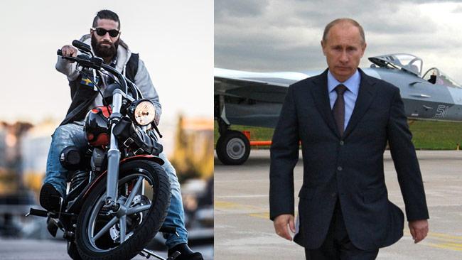 Gabriel Haidari (t.v) har sin bakgrund i konfliktområdet och han menar att Putin är en hjälte som engagerar sig i Syrien. Foto: Sven Pernils samt Alexei Druzhinin / Ria Novosti