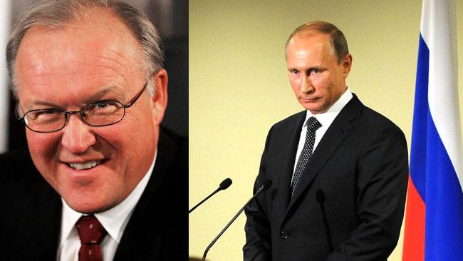 Göran Persson (t.v) och Vladimir Putin (t.h). Foto: Magnus Fröderberg / Wikimedia Commons samt kremlin.ru