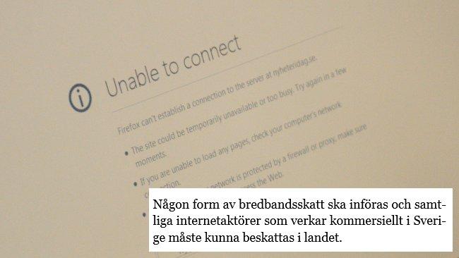Miljöpartiet vill införa internetskatt. Foto: Nyheter Idag