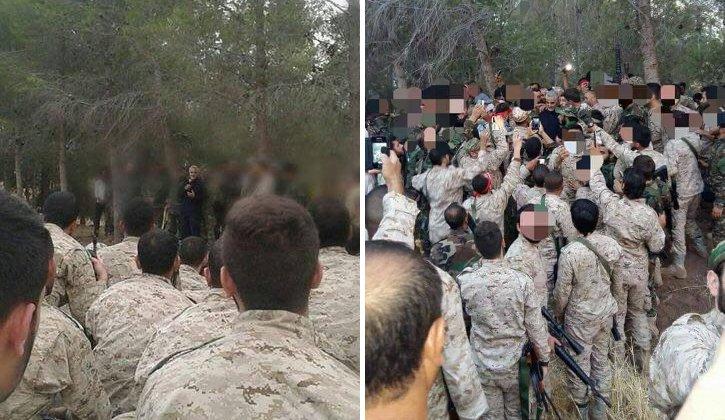 Bilder på iranska och Iranallierade soldater i Syrien spreds i sociala medier under onsdagseftermiddagen.