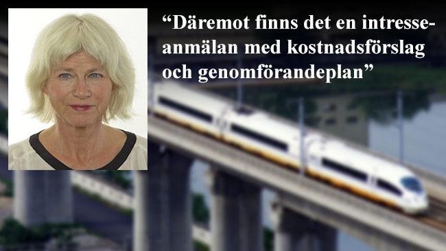 Trafikutskottets ordförande Karin Svensson-Smith (Mp) fortsätter slira på sanningen. Bilden är ett montage. Foto: riksdagen.se samt Wikimedia Commons