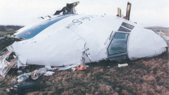 Vraket efter Pan AM Flight 103. Foto: Haveriutredningen