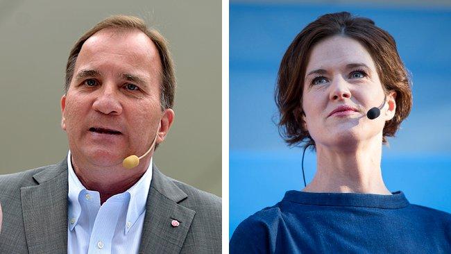 Stefan Löfven och Anna Kinberg Batra. Foto: Socialdemokraterna/Per Pettersson