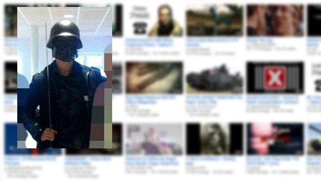 Den misstänkte mördaren verkar haft en lutning åt det högerextrema hållet. Bilden är ett montage. Foto: Faksimil Youtube samt bild från sociala medier