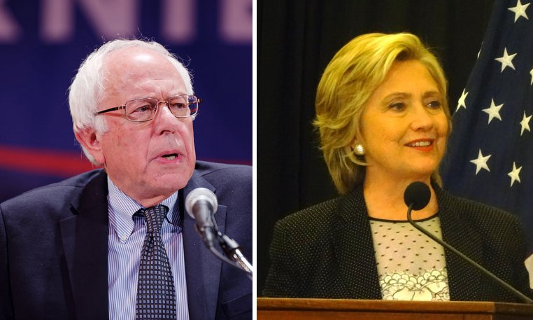 Bernie Sanders och Hillary Clinton. Foto: Michael Vadon /WisPolitics