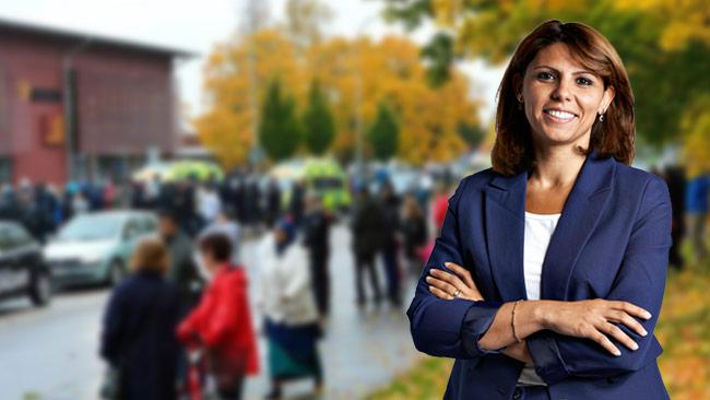 Rita Paulsson Svensson var en av de som varnade för säkerheten på skolan. Bilden är ett montage.