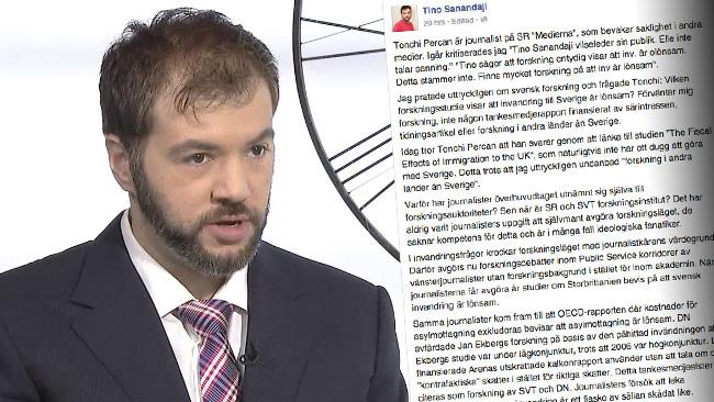 Den yviga debatten fortsatte i sociala medier. Foto: Faksimil efn.se samt Facebook