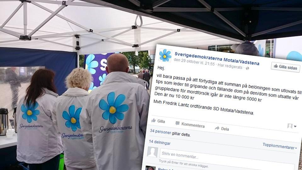 Sverigedemokraterna i Motala. Foto: Facebook